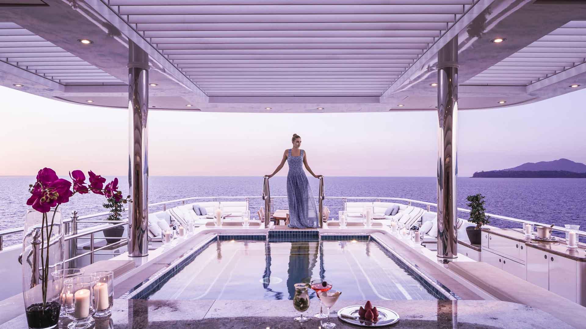 Luxury mega yacht charter Greek islands